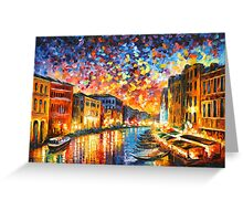 VENICE - GRAND CANAL - Leonid Afremov Greeting Card