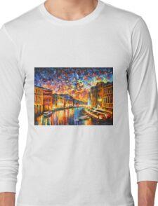 VENICE - GRAND CANAL - Leonid Afremov Long Sleeve T-Shirt