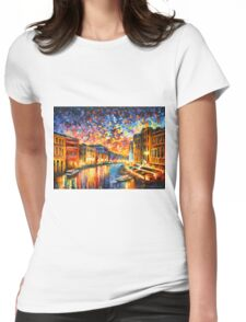 VENICE - GRAND CANAL - Leonid Afremov Womens Fitted T-Shirt