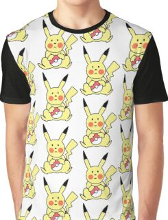 Cute Pikachu with Pokeball Graphic T-Shirt
