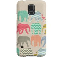 linen baby elephants and flamingos Samsung Galaxy Case/Skin