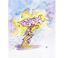 Smile in the clouds amongst the storm Photographic Print