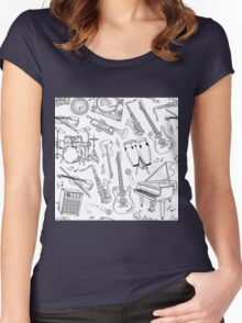 Musical instuments Women's Fitted Scoop T-Shirt