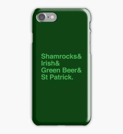 Shamrocks & Irish & Green Beer and ST Patrick iPhone Case/Skin