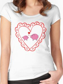 PiGgy in Love! Women's Fitted Scoop T-Shirt