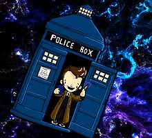 TARDIS in SPACE doctor who 10 by Bantambb