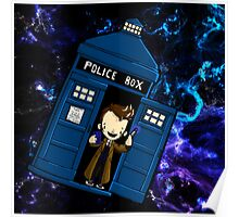 TARDIS in SPACE doctor who 10 Poster