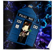 TARDIS in SPACE doctor who 11 Poster