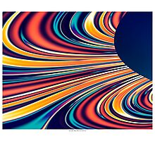 Color and Form Abstract - Solar Gravity and Magnetism 2 Photographic Print