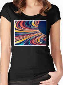Color and Form Abstract - Solar Gravity and Magnetism 2 Women's Fitted Scoop T-Shirt