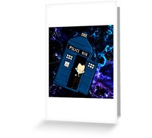 TARDIS in SPACE doctor who 9 Greeting Card
