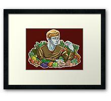 Kieren and Vegetables Framed Print