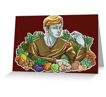 Kieren and Vegetables Greeting Card