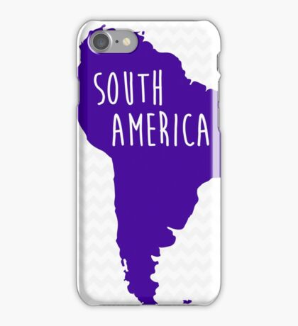 South America Chevron Continent Series iPhone Case/Skin