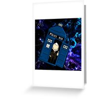 TARDIS in SPACE doctor who 8.5 war Greeting Card