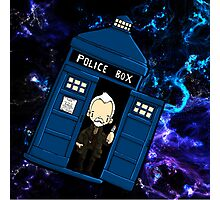 TARDIS in SPACE doctor who 8.5 war Photographic Print