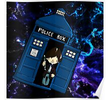 TARDIS in SPACE doctor who 2 Poster