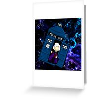 TARDIS in SPACE doctor who 3 Greeting Card