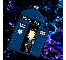 TARDIS in SPACE doctor who Photographic Print