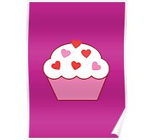 Cupcake Of Hearts Poster