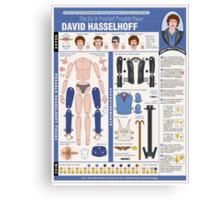 poseable david hasselhoff Canvas Print