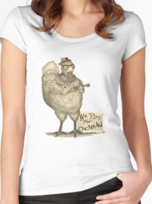Hazel Will Play Her Ukulele For You Women's Fitted Scoop T-Shirt