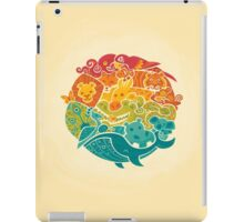 Animal Rainbow - cream iPad Case/Skin