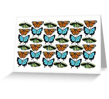 Patterns & Collages: Tropical Butterflies Greeting Card