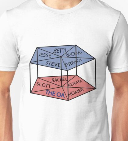 OA blue and red cage Unisex T-Shirt