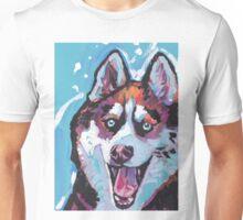 Siberian Husky Bright colorful pop dog art Unisex T-Shirt