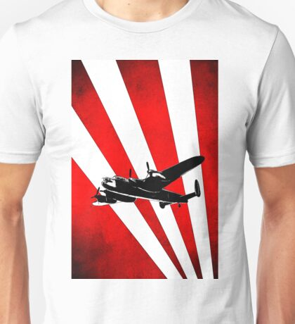 British Avro Lancaster in a stylised sky Unisex T-Shirt