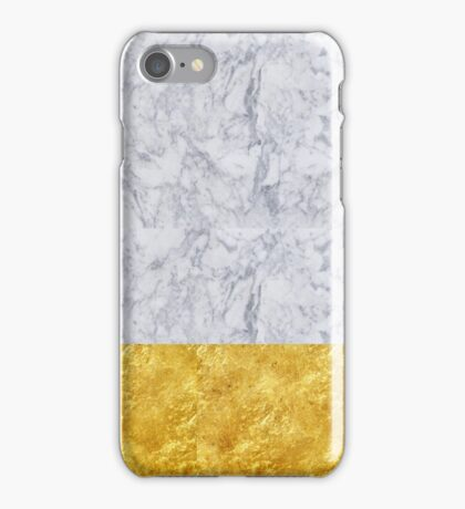 Modern marble and gold design iPhone Case/Skin