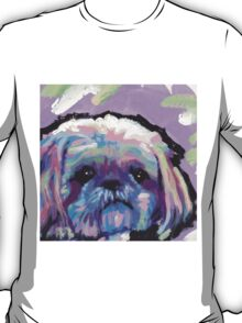 Shih Tzu Bright colorful pop dog art T-Shirt
