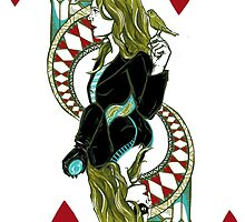 Sara Lance/Black Canary, Queen of Hearts by FlyingFoxWhale