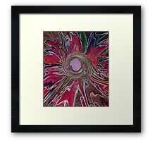 Abstract pink flower  Framed Print