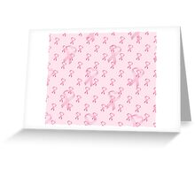 Pink Heart Ribbon Breast Cancer Greeting Card