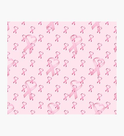 Pink Heart Ribbon Breast Cancer Photographic Print