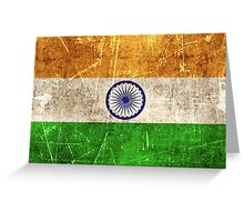 Vintage Aged and Scratched Indian Flag Greeting Card