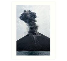 Eruption on Anak Krakatau. Sunda Strait. Indonesia. Art Print