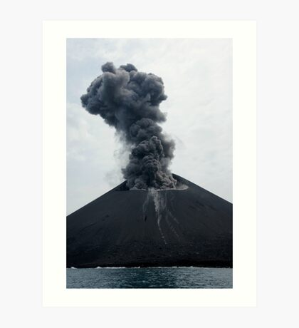 Eruption on Anak Krakatau. Sunda Strait. Indonesia. Art Print