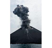 Eruption on Anak Krakatau. Sunda Strait. Indonesia. Photographic Print