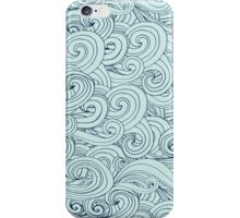 Blue Ocean Waves abstract iPhone Case/Skin