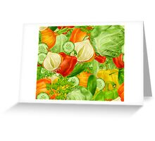 Colorful Vegetables Greeting Card