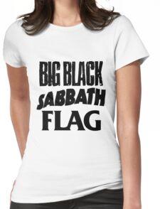 Big Black Sabbath Flag Womens Fitted T-Shirt