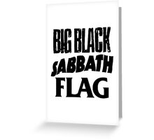 Big Black Sabbath Flag Greeting Card