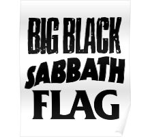 Big Black Sabbath Flag Poster