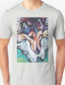 Sheltie Shetland Sheepdog Bright colorful pop dog art Unisex T-Shirt
