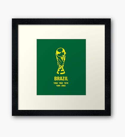 Brazil World Cup wins Framed Print