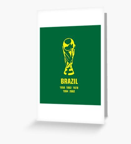Brazil World Cup wins Greeting Card