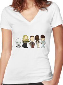 Hitchhiker's guide to the galaxy Women's Fitted V-Neck T-Shirt